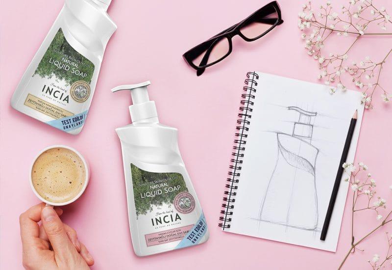 Incia Liquid Soap Packaging Design