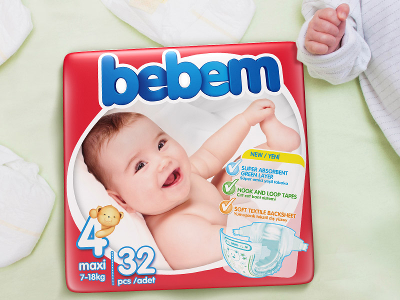 Bebem Baby Diaper Packaging Design