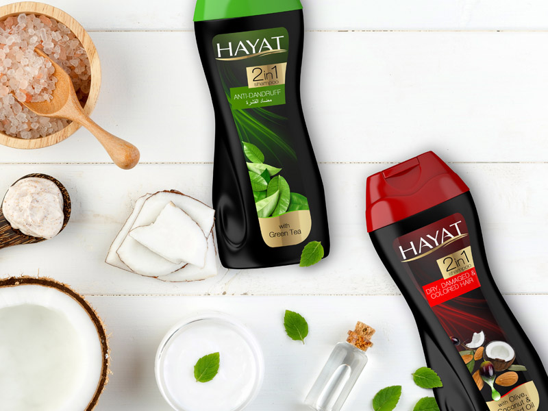 Hayat Shampoo Packaging Design