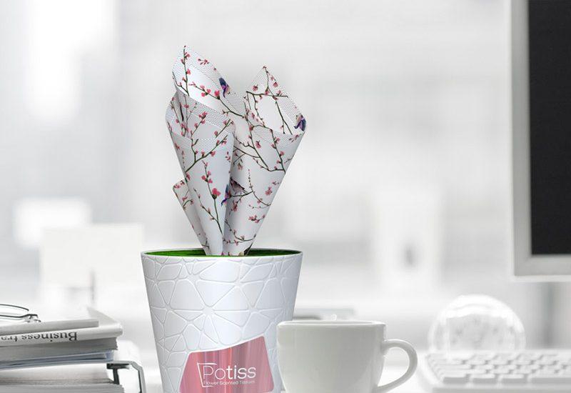 tissues flower packaging design