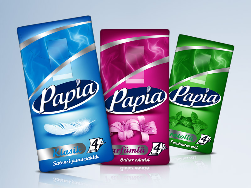 Papia Hankies Packaging Design